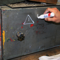 Markal Pocket Paint Маркер короткий с двухсторонним наконечником