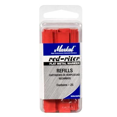 Markal Red Riter Refills Flat (Pack of 25)